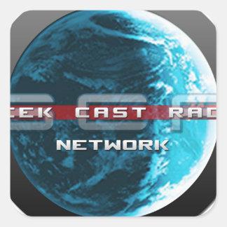 GeekCast Radio Network Square Sticker
