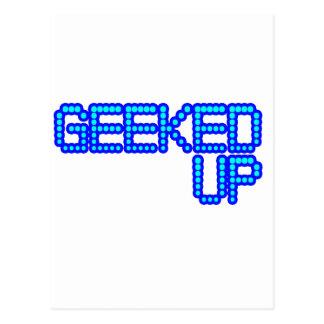 GEEKED UP blue jerkin jerk dance guys an girls Postcard