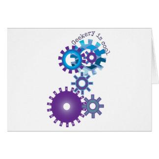 Geekery Steampunk Gears Greeting Card