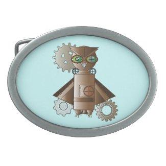 Geekery Steampunk Robot Owl Belt Buckle