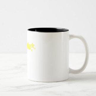 Geekette amarillo taza dos tonos