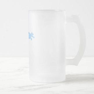 Geekette azul taza cristal mate