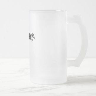 Geekette negro taza cristal mate