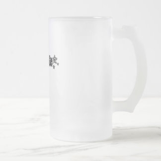 Geekette negro taza de cristal