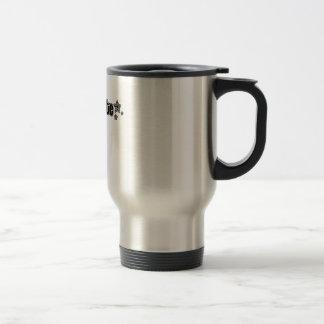Geekette negro taza de viaje de acero inoxidable