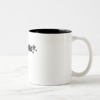 Geekette negro taza dos tonos