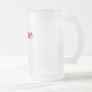 Geekette rojo taza cristal mate