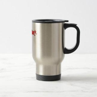 Geekette rojo taza de viaje de acero inoxidable