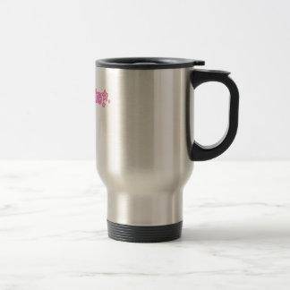 Geekette rosado taza de viaje de acero inoxidable