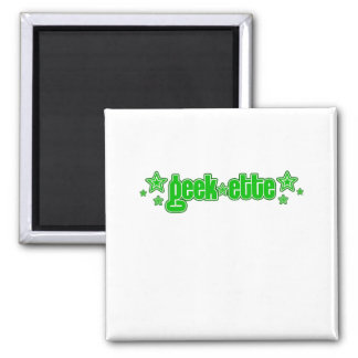 Geekette verde imán cuadrado