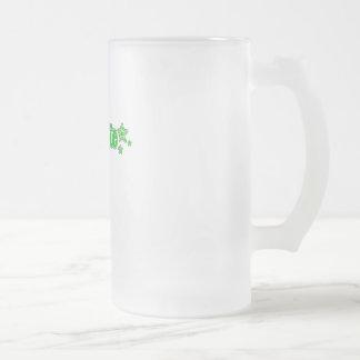 Geekette verde taza cristal mate