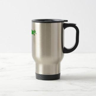 Geekette verde taza de viaje de acero inoxidable