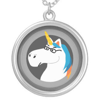 Geekicorn Round Pendant Necklace