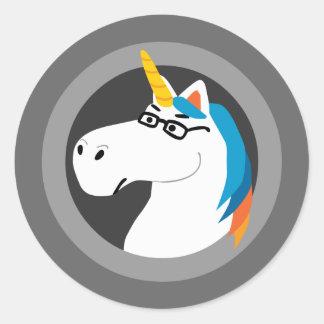 Geekicorn Round Stickers