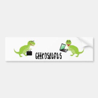 geekosaurus car bumper sticker