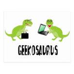 geekosaurus tarjeta postal