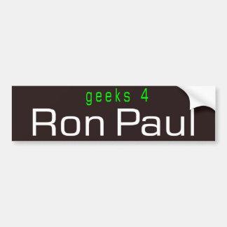 geeks 4 Ron Paul Car Bumper Sticker