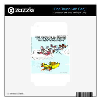 Geeks Above Fruited Plane Funny iPod Touch 4G Skins