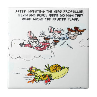 Geeks Above Fruited Plane Funny Tile
