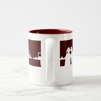 Geeks and coffee Two-Tone coffee mug