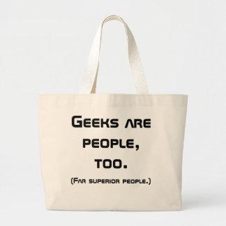 Geeks Are People, Too Book Bag (Black)
