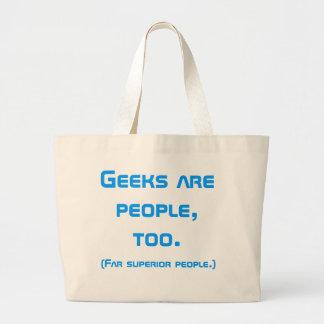 Geeks Are People, Too Book Bag (Blue)