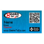 Geeks Card MVP Blair QR Double-Sided Standard Business Cards (Pack Of 100)