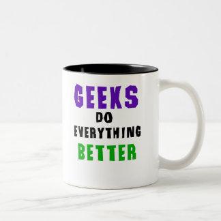 Geeks Do Everything Better Two-Tone Coffee Mug