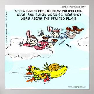 Geeks & Fruited Plane Poster