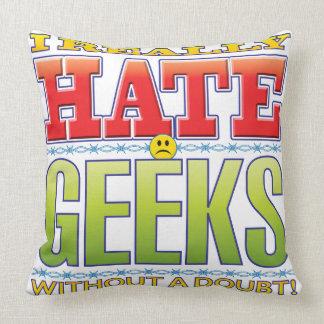 Geeks Hate Face Throw Pillows