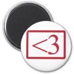 Geek's Heart Magnets