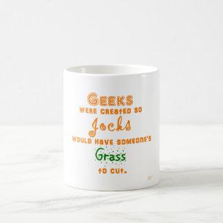 Geeks, Jocks, and Grass Classic White Coffee Mug