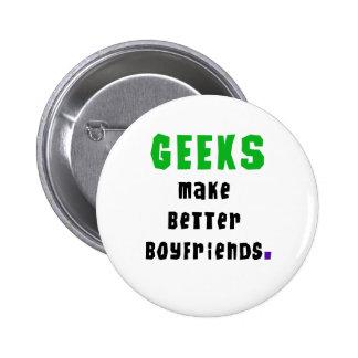 Geeks Make Better Boyfriends Buttons