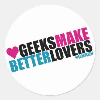 Geeks Make Better Lovers Classic Round Sticker