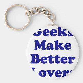 Geeks Make Better Lovers Keychains