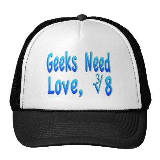 Geeks Need Love Trucker Hats