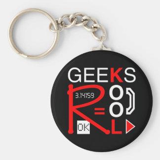 Geeks R Kool Basic Round Button Keychain