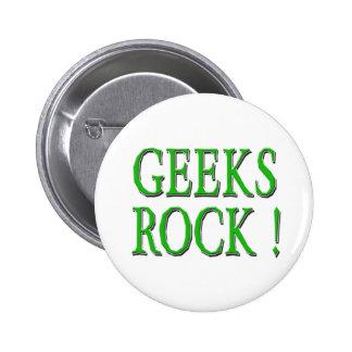 Geeks Rock !  Green 2 Inch Round Button