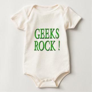 Geeks Rock !  Green Baby Bodysuit