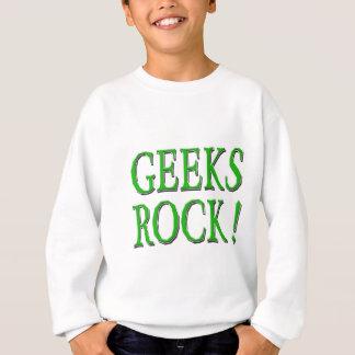 Geeks Rock !  Green Sweatshirt