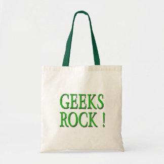 Geeks Rock !  Green Tote Bag