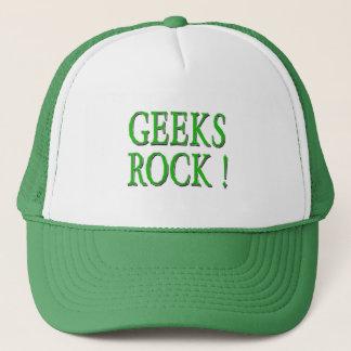 Geeks Rock !  Green Trucker Hat