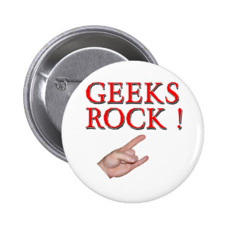 Geeks Rock !  with Hand Button