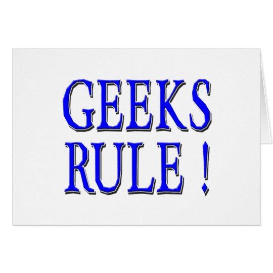 Geeks Rule !  Blue Card