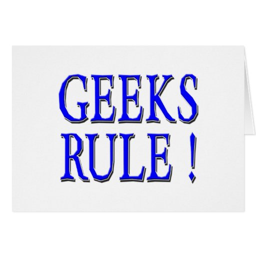 Geeks Rule !  Blue Cards