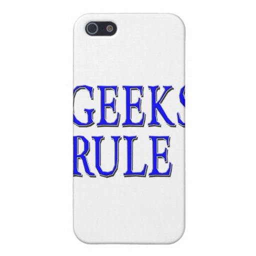 Geeks Rule ! Blue Case For iPhone 5