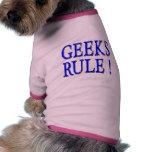 Geeks Rule !  Blue Pet Tee Shirt