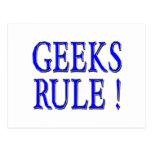 Geeks Rule !  Blue Post Cards