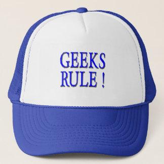 Geeks Rule !  Blue Trucker Hat