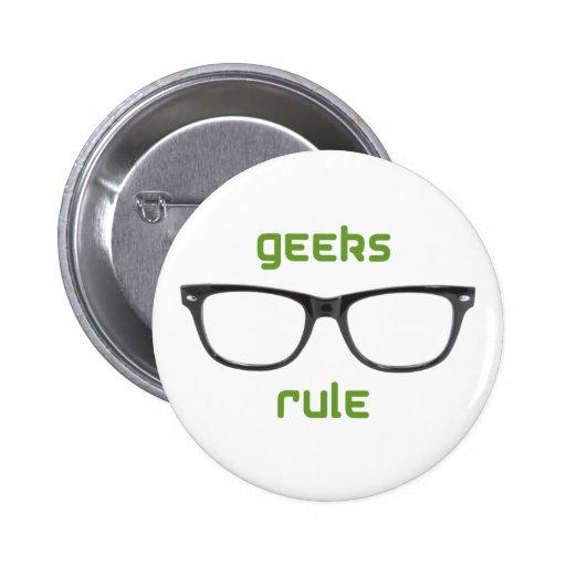Geeks Rule Eyeglasses Button